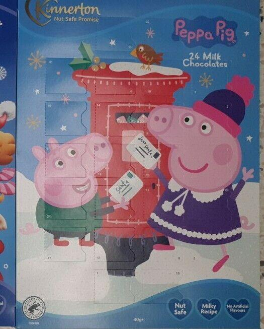 Adviento Calendario Chocolate Peppa Pig-Navidad Niños Chocolate