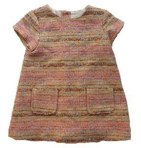 ZARA-Baby-Girls-PINK-YELLOW-Woven-Tunic-1960s-Mini-Dress-12-36mm-19-99