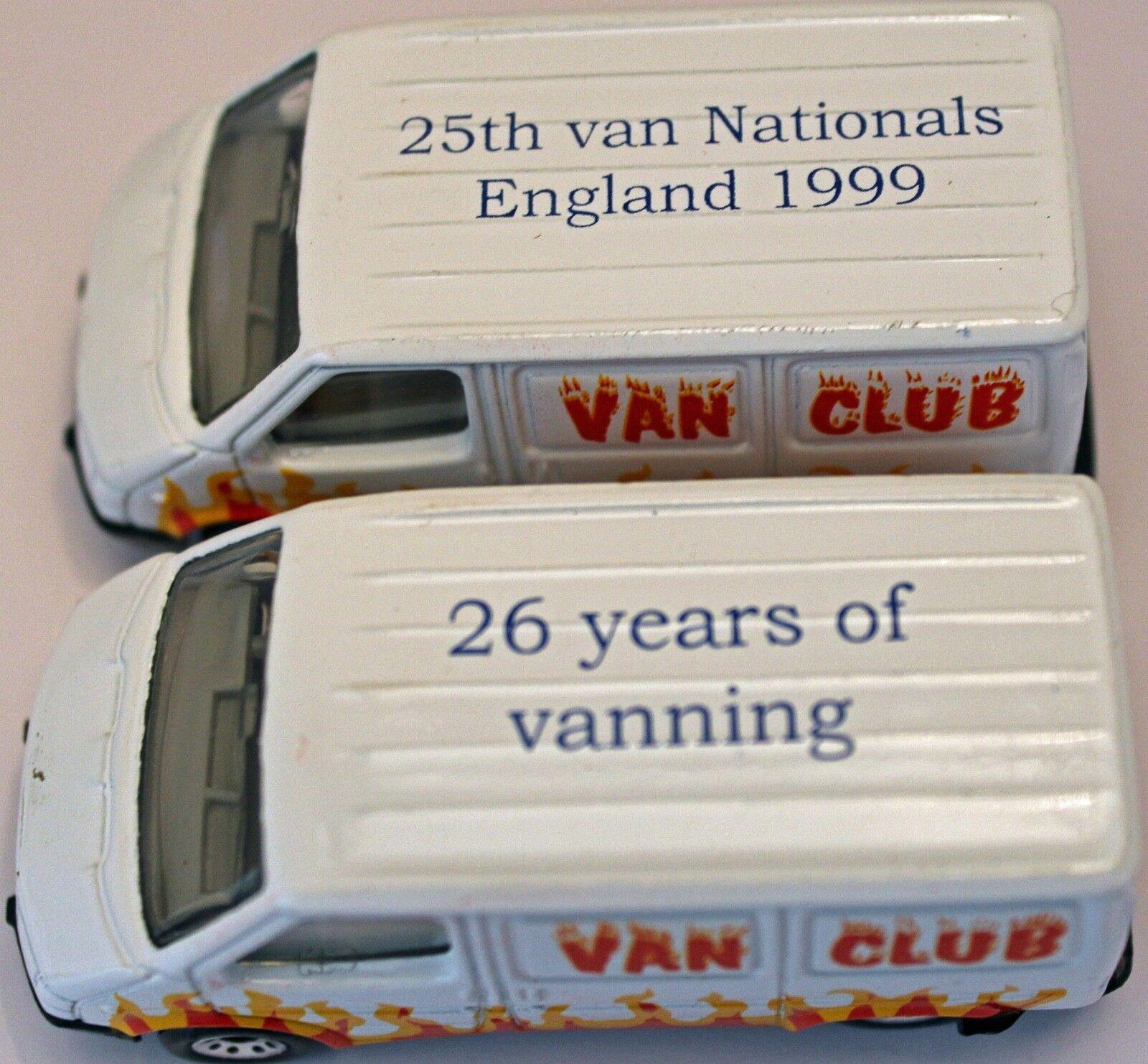 Matchbox Ford Transit, van Club 2 van Set Edición Limitada Colorcomp Van En Caja