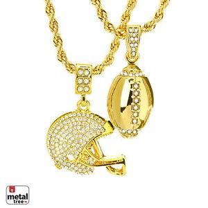 "Iced Heavy Gold Tone XL AK47 Gun Pendant Tennis Chain Necklace 26/"" THC 5096 G"