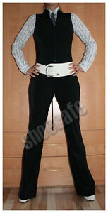 review Overall Gr. 34 Catsuit Jumpsuit stretch ärmellos Businessoverall  (#1158)