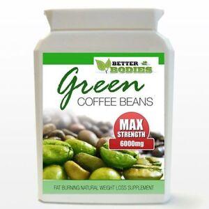 6000 mg de grano de café verde