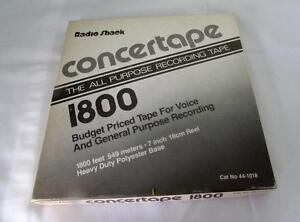 Radioshack-Concertape-7-034-Open-reel-tapes-1800ft-Music-recorded-on-them