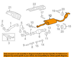 lexus toyota oem 10 15 rx350 3 5l v6 exhaust system tail pipe 98 Lexus Exhaust System Diagram image is loading lexus toyota oem 10 15 rx350 3 5l