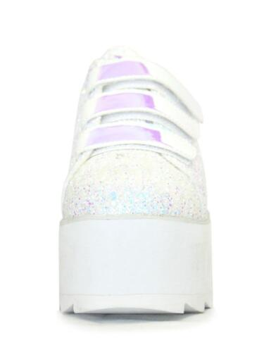 Plateau femmesLala Youthful paillettes blanches pour ᄄᄂ UpChaussures Yru Rise 7bf6Ygyv