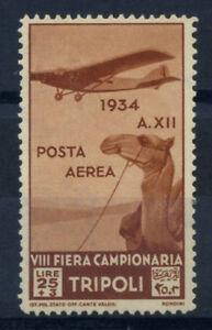 Libia-1934-Sass-A18-Nuovo-100-Posta-Aerea-Fiera-di-Tripoli