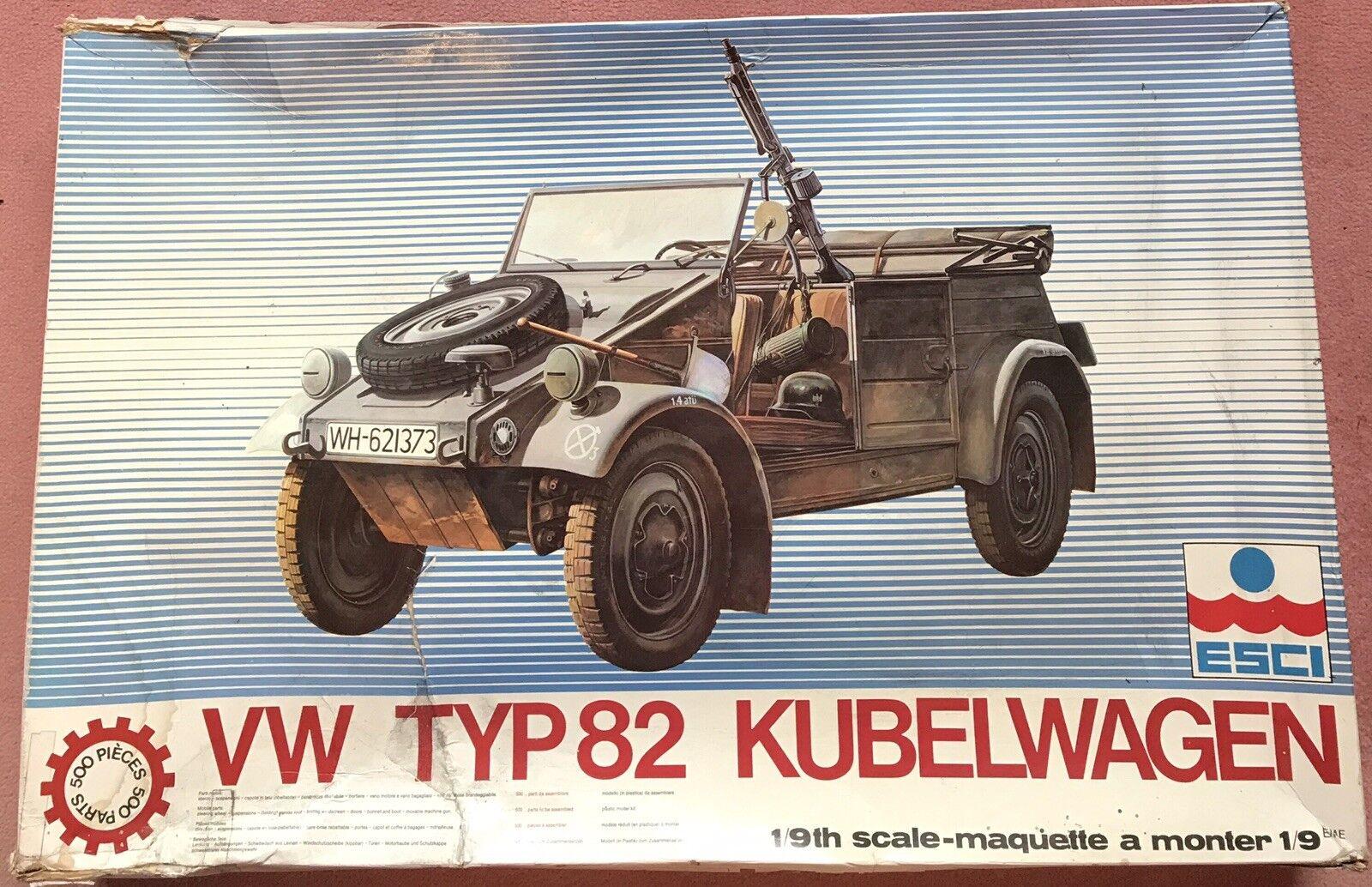 "ESCI,  1 9th SCALE MODEL  WORLD WAR ll   VW TYPE 82   KUBELWAGEN,  ""VERY RARE"""