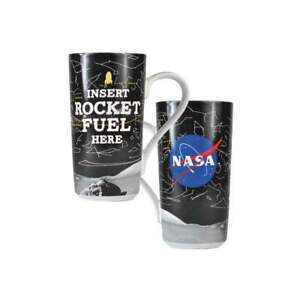 Details About Official Nasa Insert Rocket Fuel Latte Coffee Mug Cup New In Gift Box