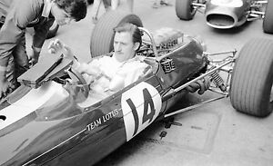 GRAHAM-HILL-LOTUS-BRM-33-PHOTOGRAPH-FOTO-MONACO-GRAND-PRIX-1967