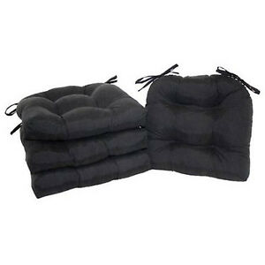 Chair Cushion Pad Seat Set With Ties Patio Outdoor Garden Dining Yard Set Of