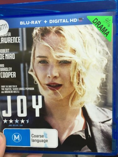 1 of 1 - Joy ex-rental BLU RAY (2015 Jennifer Lawrence / Bradley Cooper drama movie)