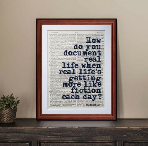 Rent musical Quote dictionary page art print gift book musical