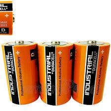3 x Duracell D Size batteries Industrial Procell Alkaline LR20 MN1300 MONO 1.5V