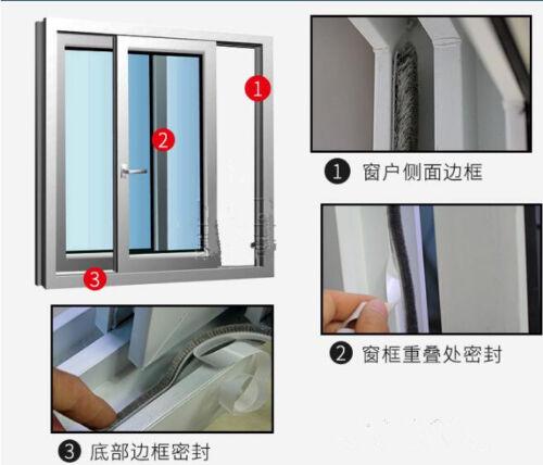 5 Meter Weather Draught Excluder Brush Strip Window Door Seal Tape Self-adhesive
