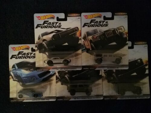 Hot Wheels 2019 Premium Fast /& Furious Complete Set of 5 FURIOUS OFF-ROAD,New