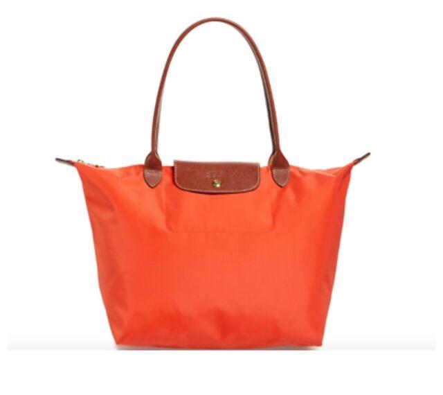89c65df4aa0 Longchamp Large Le Pliage Orange Tote Bag for sale online | eBay