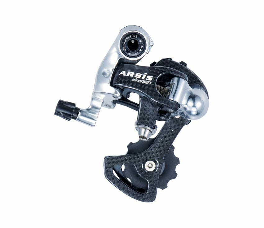 Bicycle rear derailleur Microshift Arsis Carbon 10 speed Shimano Compatible 105