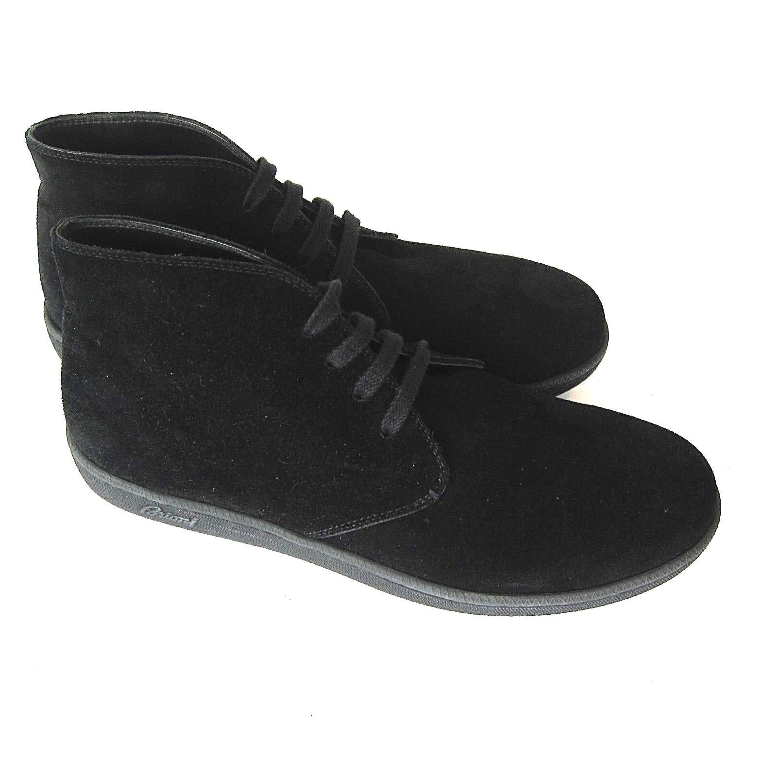 J-3305175 New Brioni nero Suede Ankle Lace Up avvio scarpe Dimensione US 11 Marked 10