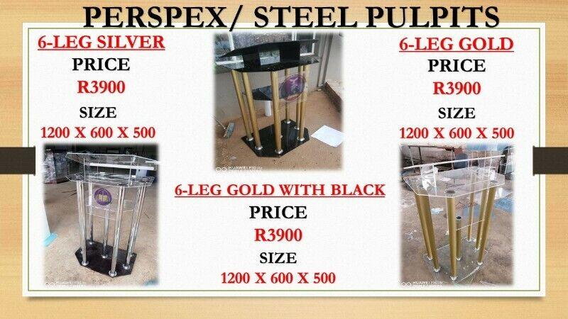 Perspex/Steel Podiums