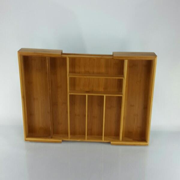 Kesper Variabler Besteckkasten Bambus ausziehbar von 35-58 cm 17085