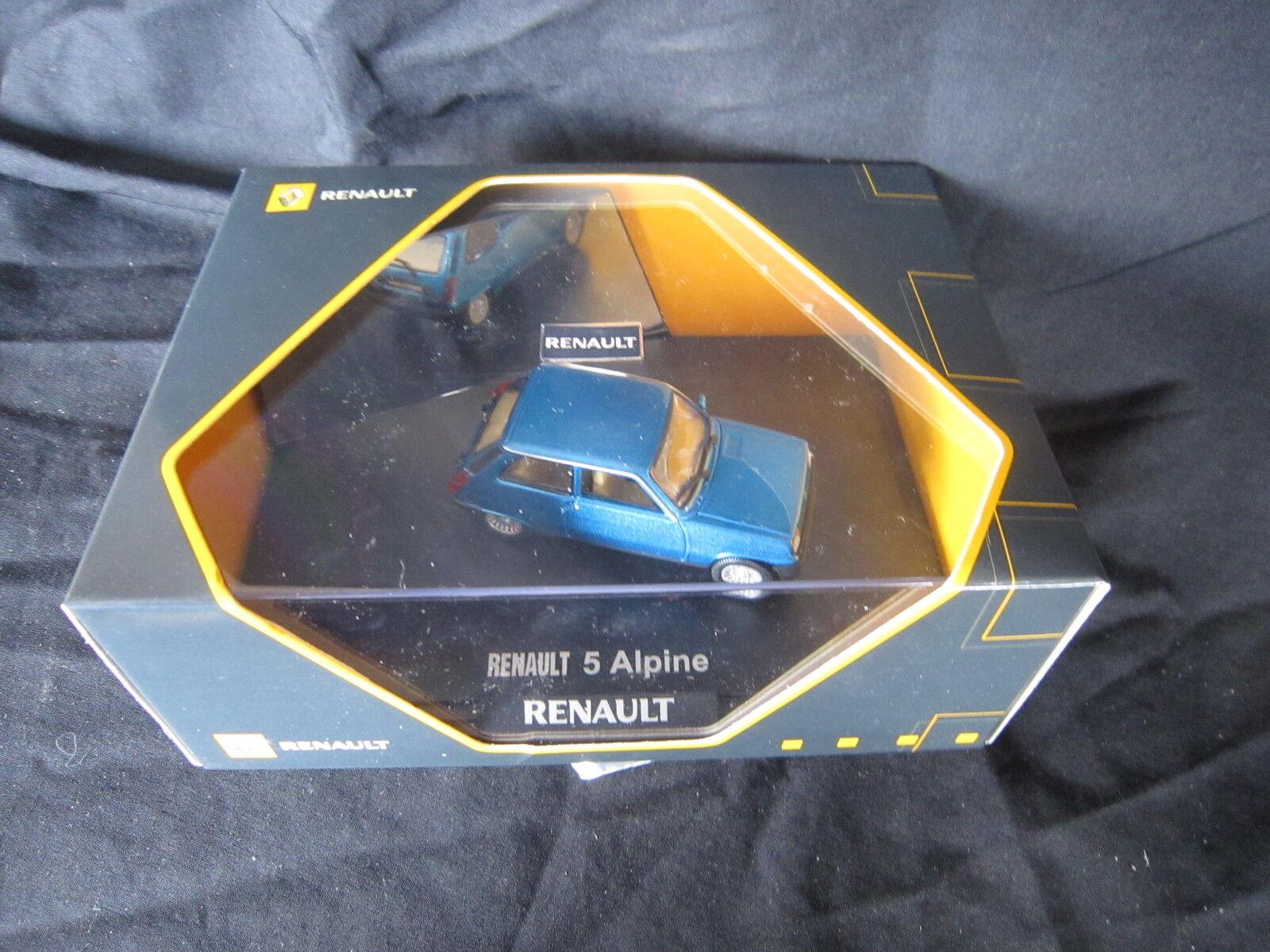 DV6832 NOREV 1 43 RENAULT R5 ALPINE TURBO blu METAL 1982 7711420085 ETAT NEUF