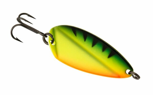 13 Fishing Origami Blade Radioactive Pickle 1//16 oz Ice Spoon Lure OB-RP16