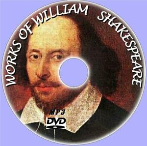 WILLIAM-SHAKESPEARE-OVER-220-MP3-AUDIO-BOOKS-NEW-MP3-PC-DVD-POEMS-PLAYS-SONNETS