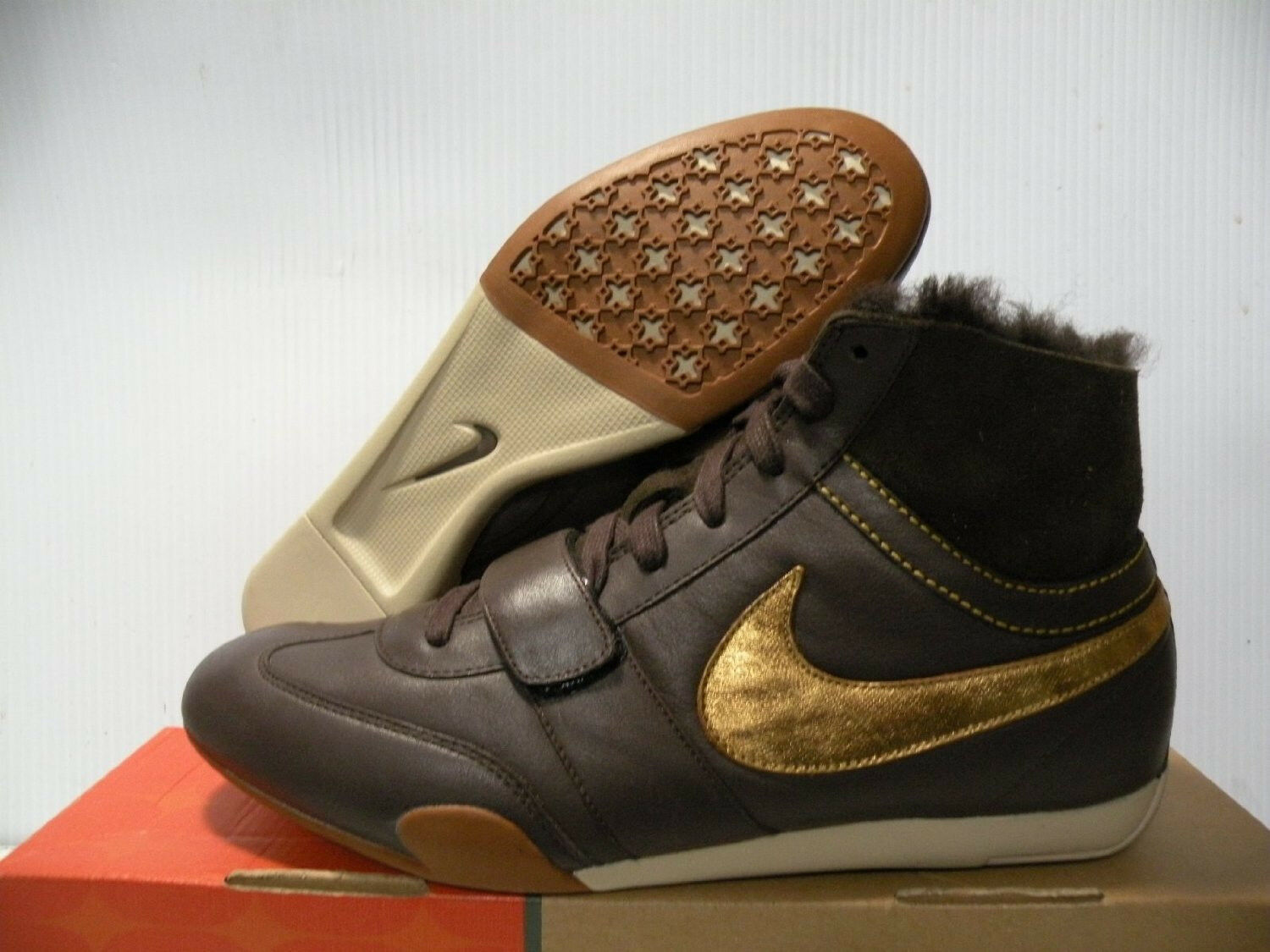 NIKE SPRINT SISTER MID PREMIUM FUR SNEAKERS WOMEN SHOES 314446-271 SIZE 5.5 NEW