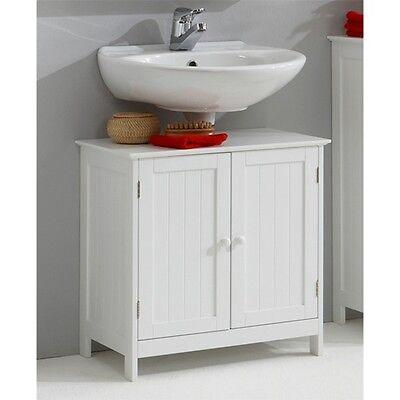 Bathroom Sink Cabinet Under Basin Unit Cupboard Storage Furniture White