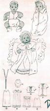 """VINTAGE 12"""" NEW DELTOR ANTIQUE  BABY DOLL CLOTHES PATTERN 444"""