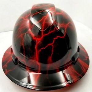 Hard-Hat-custom-hydro-dipped-OSHA-approved-FULL-BRIM-CANDY-RED-LIGHTNING-BOLT