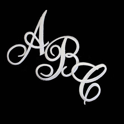 Iron on Letters - Script Initials  - Embroidered - Sold Separately