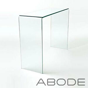 Image Is Loading CURVED GLASS CONSOLE TABLE SMALL LARGE CLEAR DINING