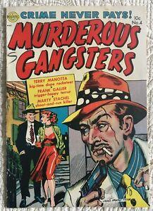 Golden-Age-Crime-MURDEROUS-GANGSTERS-4-VG-4-5-1952-Classic-Kinstler-Cover