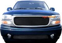 Gmc Yukon Denali 2pc Upper+bumper Black Billet Grille 01-06 02 03 04 05
