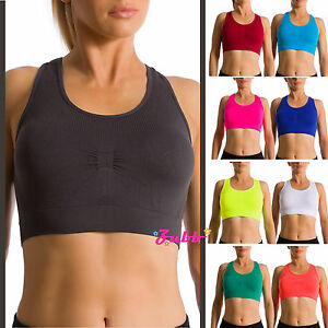 a0004dbb9280d Image is loading Women-039-s-Seamless-Light-Weight-Racerback-Sports-