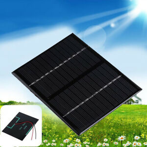 5-9-12V-0-125-3W-Sonnenkollektor-Solaranlage-Solar-Panel-Pack-Fuer-Auto-Camping