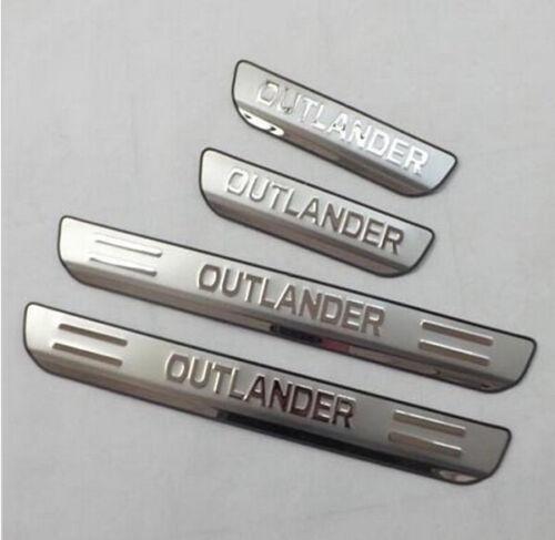 Steel Door Sill Scuff Plate Guards For Mitsubishi Outlander 13-18 PHEV 2016-2018