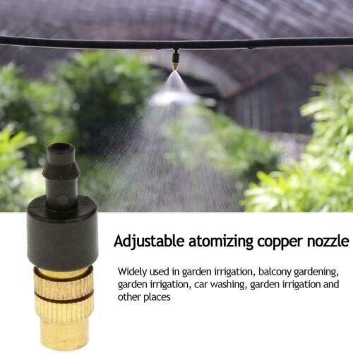 1X Brass Spray Misting Nozzle Garden Sprinklers Irrigation Tools Access Fi F4Z2