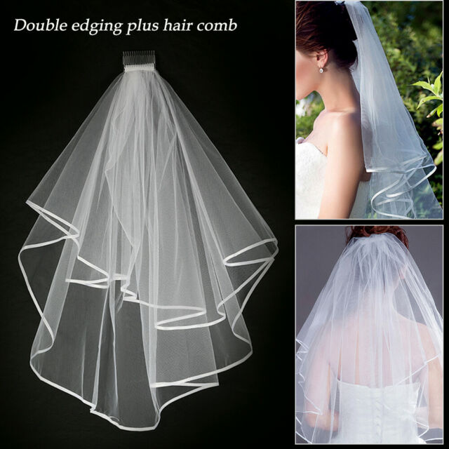 720cbe53 Veil Comb White With Gold Bride to Be Hen Night Wedding Party Accessories UK