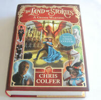 Signed Chris Colfer Land Of Stories Autographed Book Grimm Warning Glee