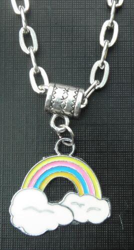 "20/"" 24/"" Inch Necklace /& Rainbow Pendant Charm Pride LGBT Lesbian Gay Symbol Sign"