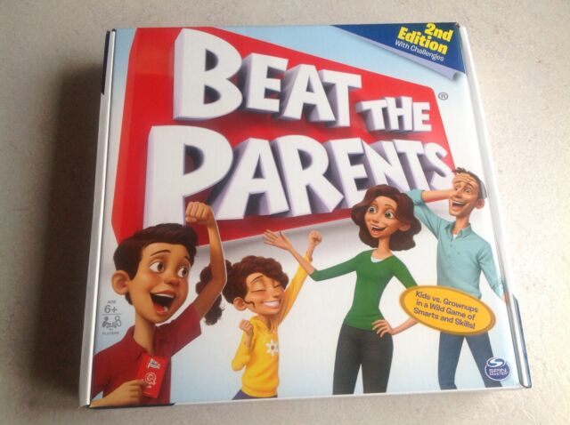Beat The Parents Spin Master Games Fun family trivia game Kids adults UK NEW