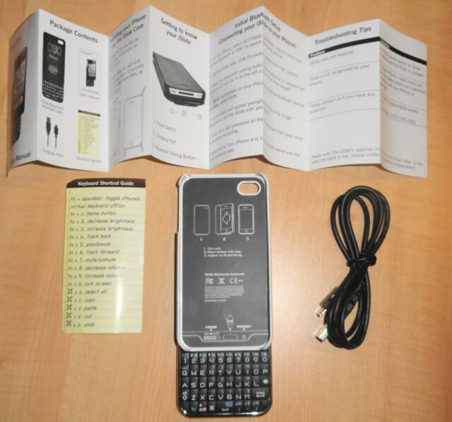 NEW Lifeworks iSlide Bluetooth Keyboard Case for iPhone 4