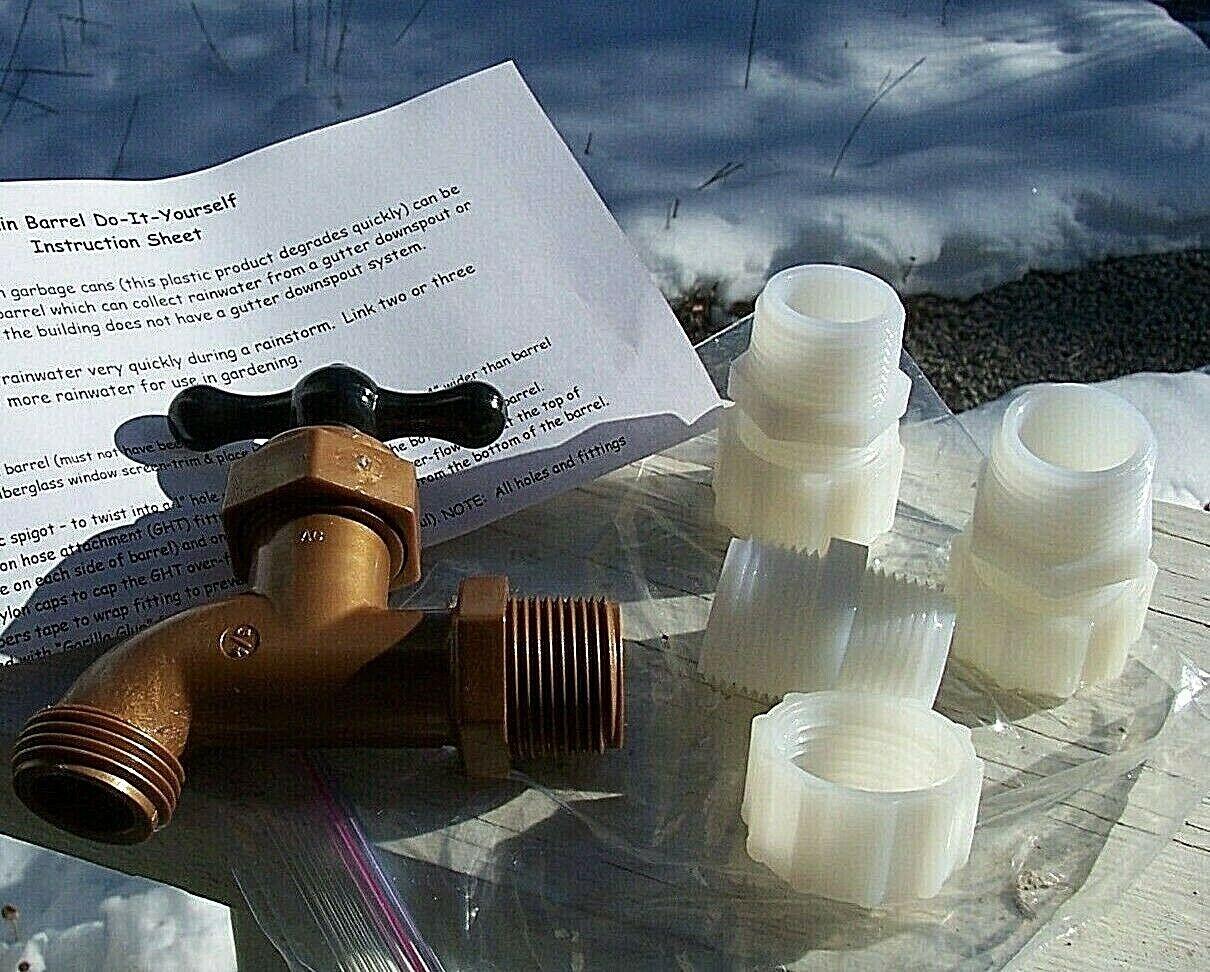 Rain Barrel Fitting Kit w/Instructions