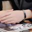 2-Bracciale-Coppia-bracelet-Uomo-Donna-ring-Fidanzati-anello-Acciaio-INCISIONI miniatura 8