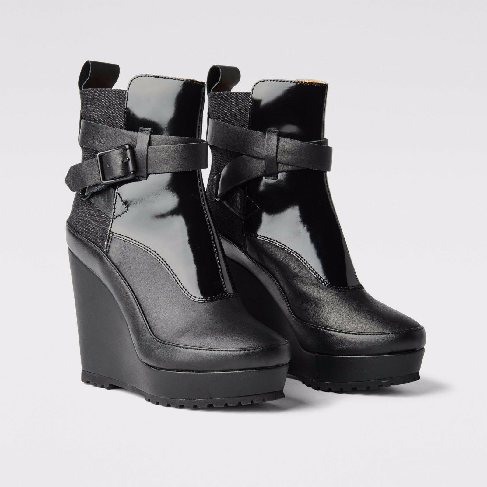 G Star Romero Cheval Strap Shine Boots New in Box Size US7 UK5 EU38