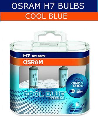 Osram Cool Blue Intense H7 12V 55W Twin Pack of Car Headlight Bulbs (Xenon Look)