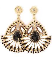 Black And White Dangle Earrings