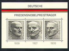 Germany 1975 Nobel Peace Prize Winners/People 3v m/s (n32789)